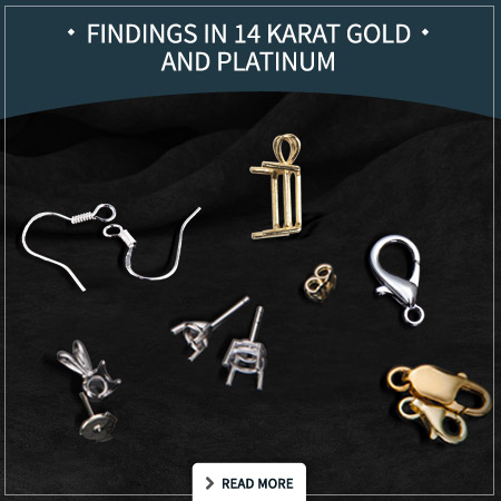 Findings in 14 karat Gold and Platinum